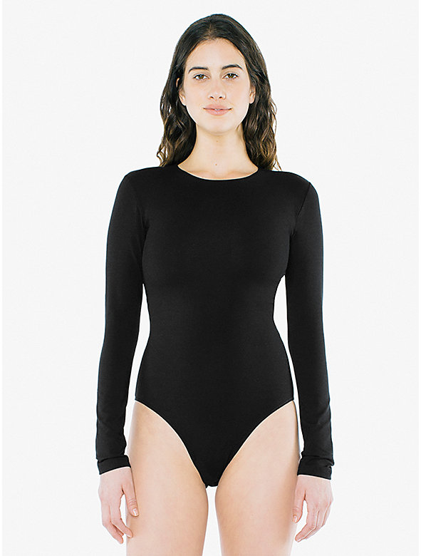 4f8f3ff3ef Cotton Spandex Long Sleeve Bodysuit