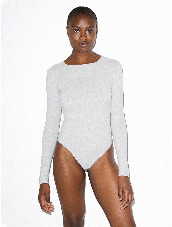 Cotton Spandex Long Sleeve Bodysuit