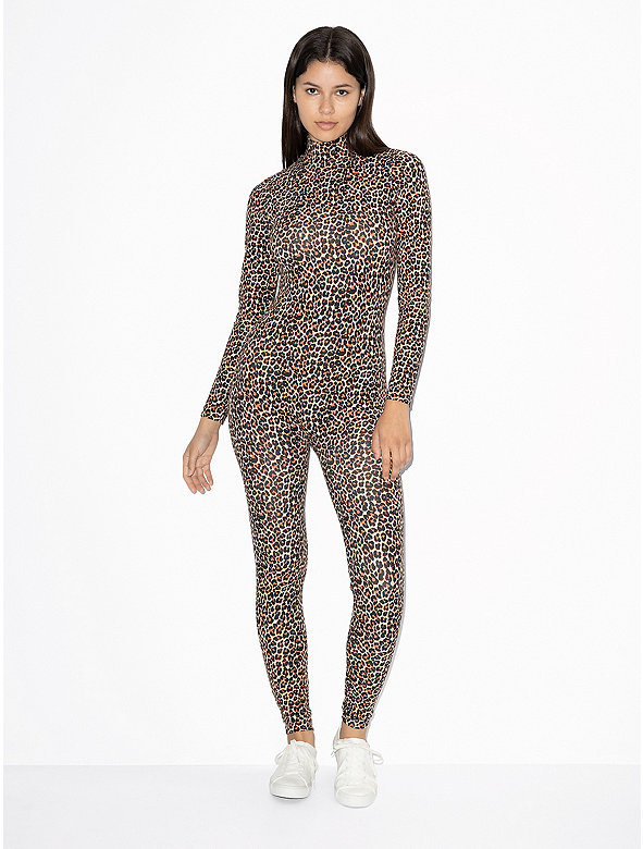 Cotton Spandex Turtleneck Catsuit