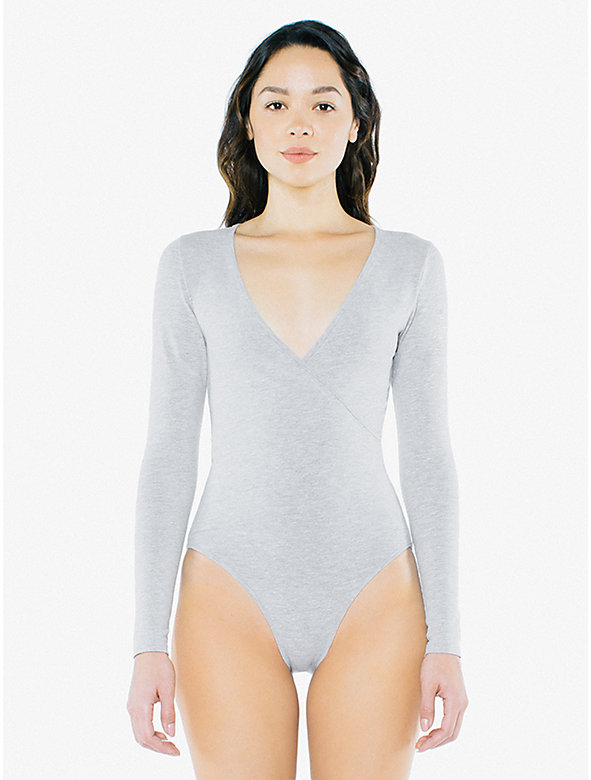 Cotton Spandex Cross V Bodysuit