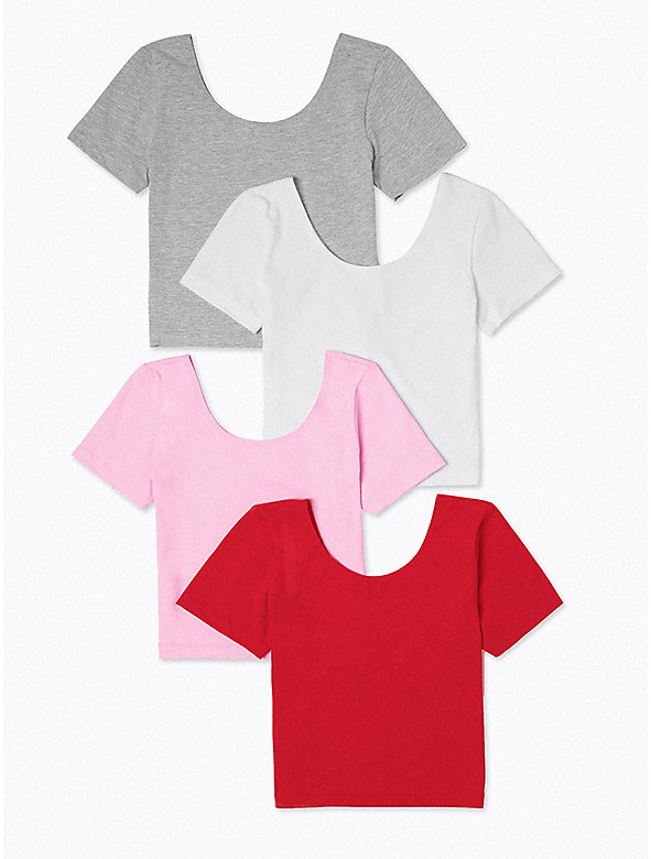Cotton Spandex Jersey Crop T-Shirt