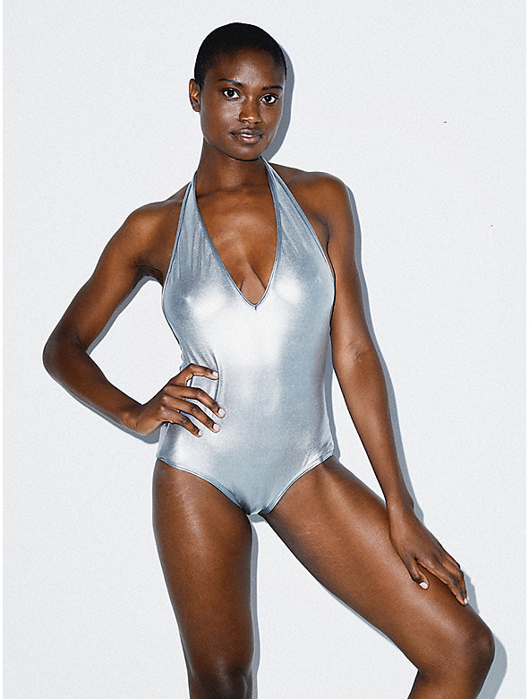 Metallic Halter Sunsuit