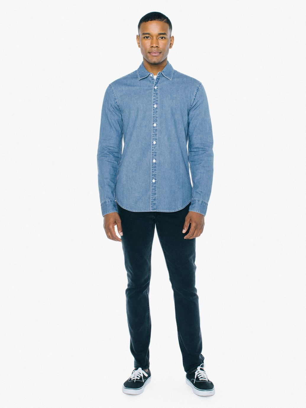 39979450c33 Denim Long Sleeve Shirt
