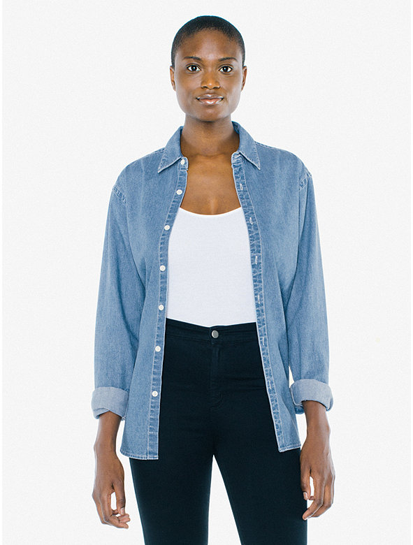 Unisex Denim Long Sleeve Shirt