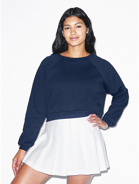 Flex Fleece Raglan Cropped Sweatshirt