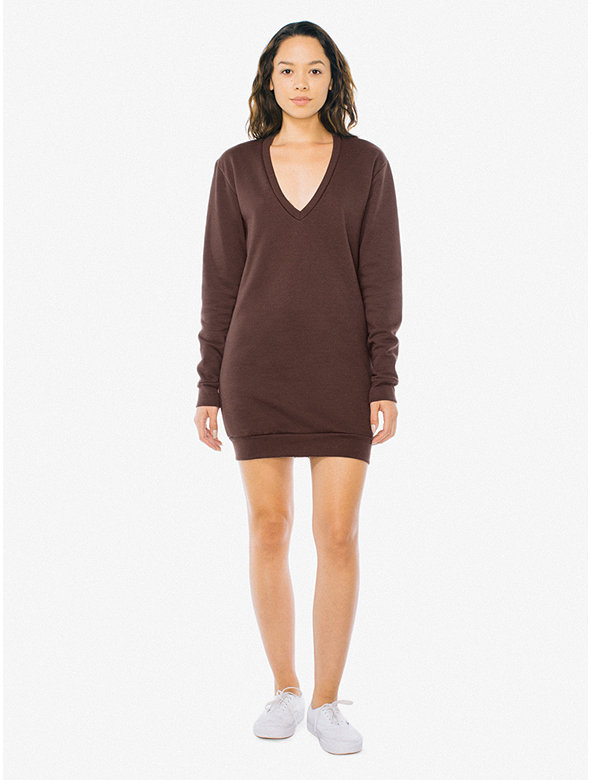 Flex Fleece V Dress