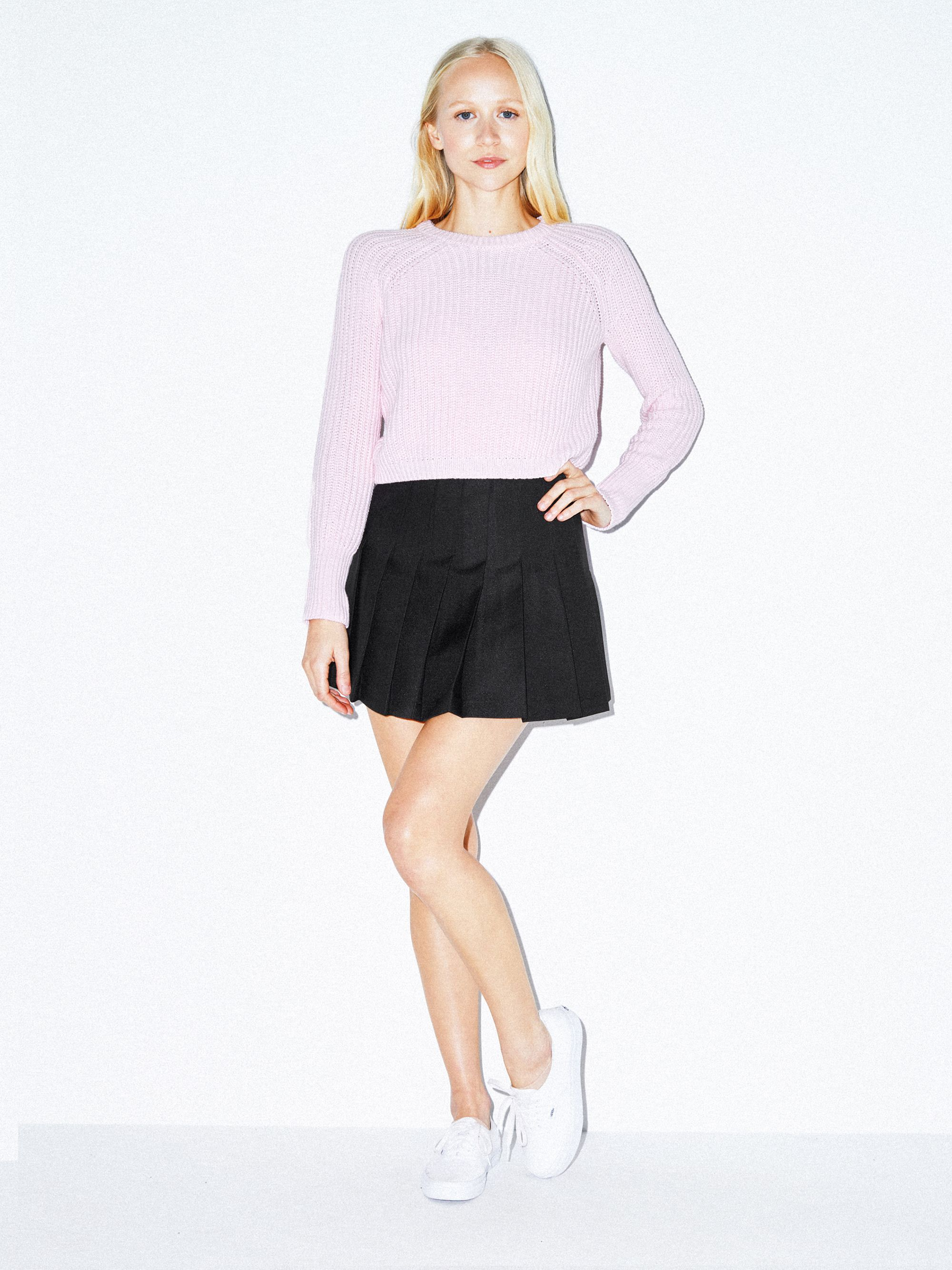 dc7ea2888 Gabardine Tennis Skirt   American Apparel