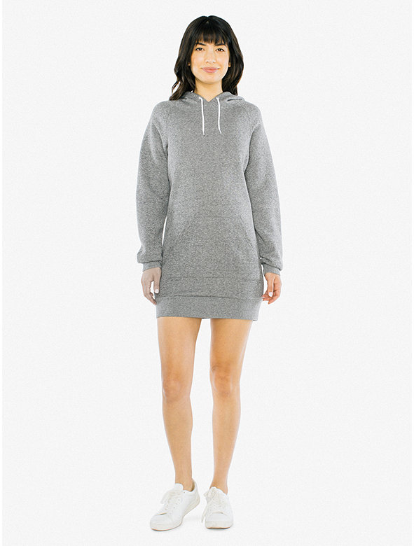 Peppered Fleece Hoodie Dress