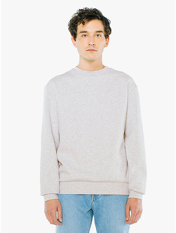 Peppered Fleece Pullover Crewneck