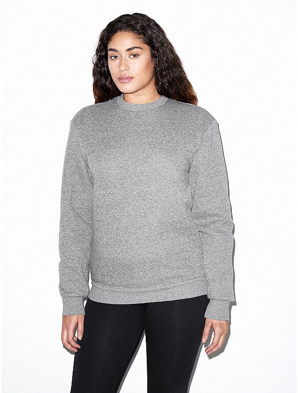 Unisex Peppered Fleece Pullover Crewneck