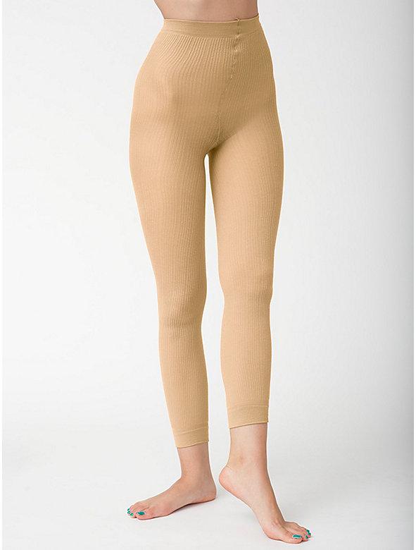 Footless Ribbed Pantyhose