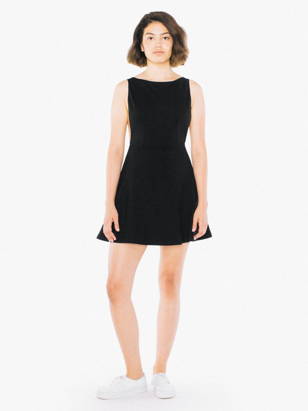 c25878842eedcc Ponte Sleeveless Skater Dress