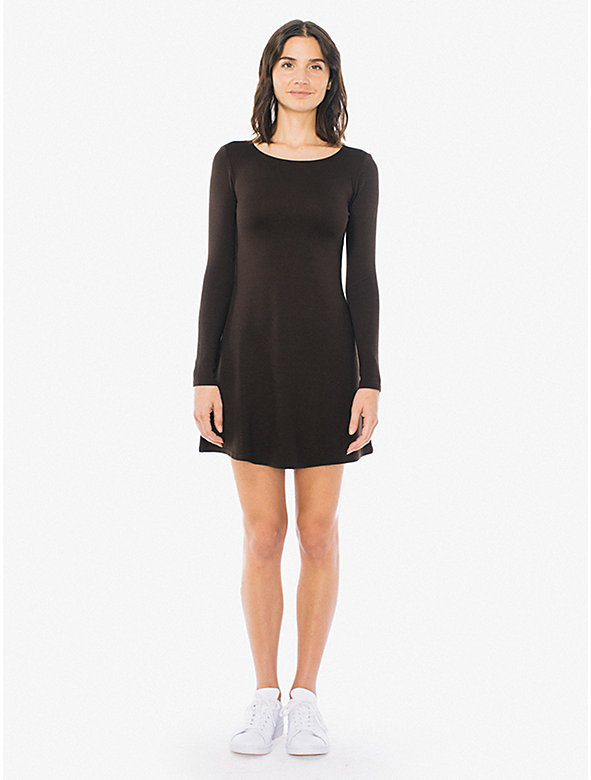 Ponte Long Sleeve Mini Dress