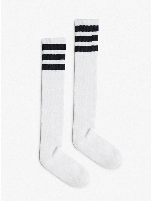 7913a5ebd77 Unisex Stripe Knee-High Sock