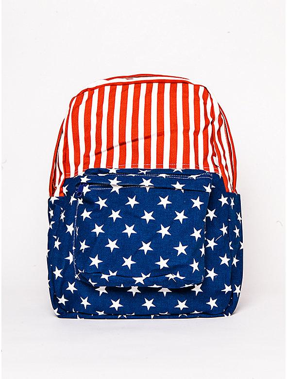 US Flag Canvas School Bag