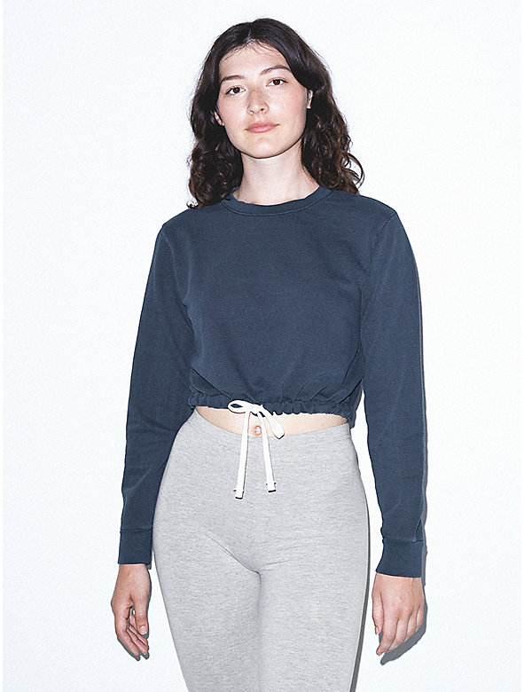 French Terry Cord Sweatshirt