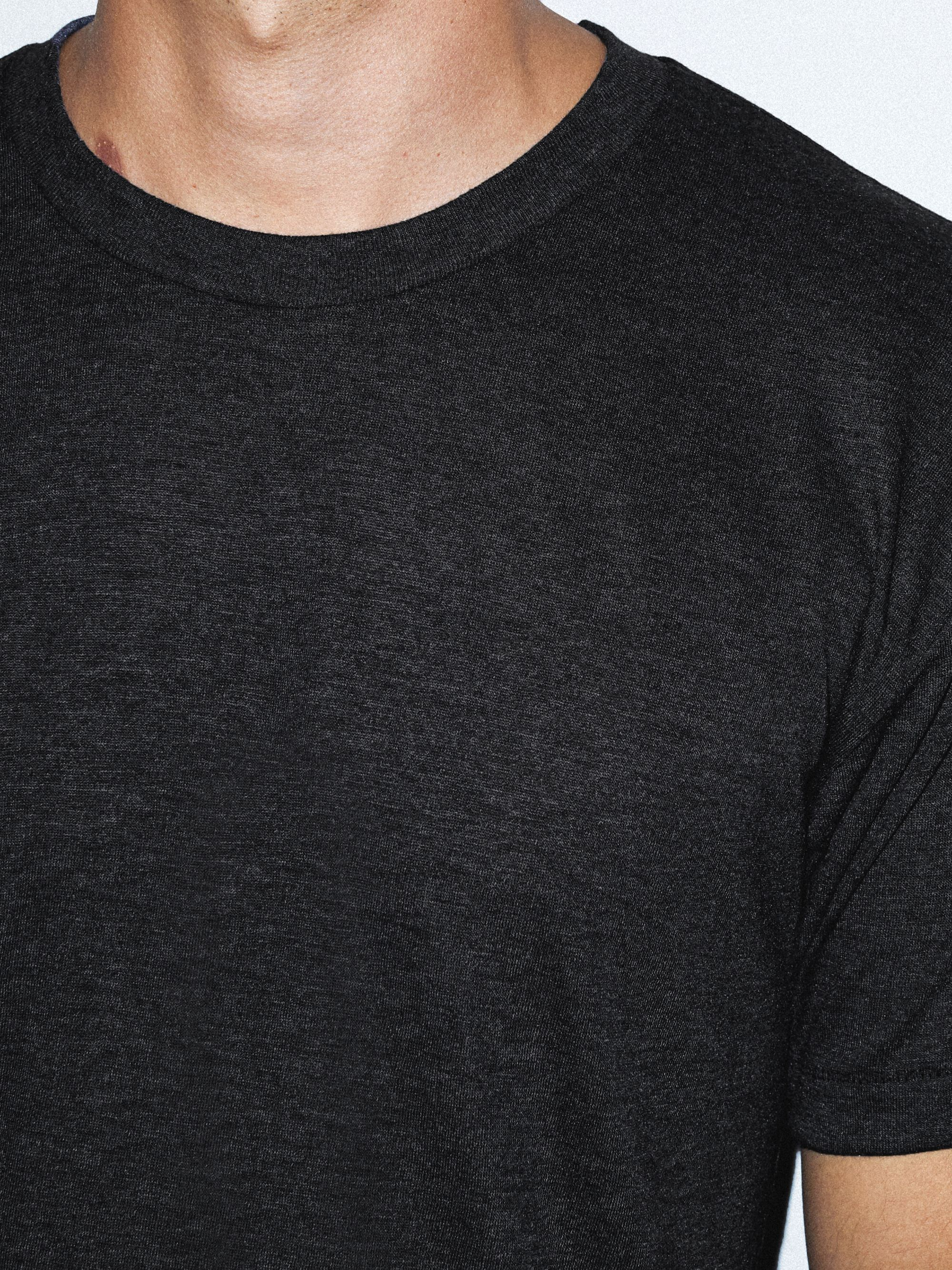a591677b Tri-Blend Crewneck Track T-Shirt   American Apparel