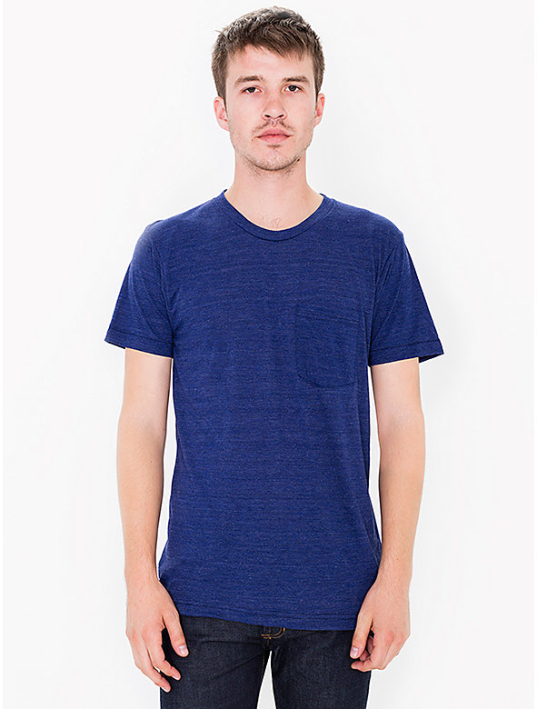 Tri-Blend Crewneck Pocket T-Shirt