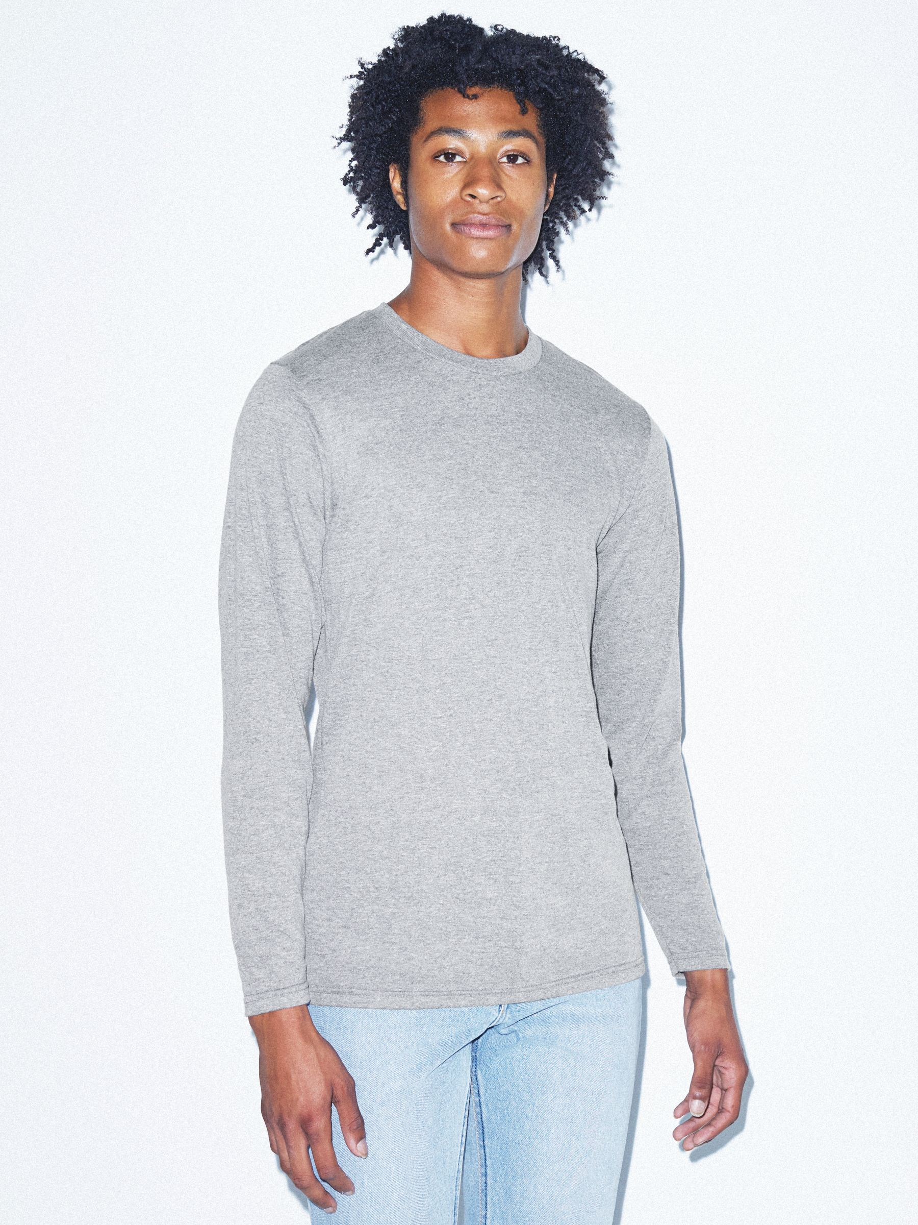 Tri Blend Long Sleeve T Shirt by American Apparel