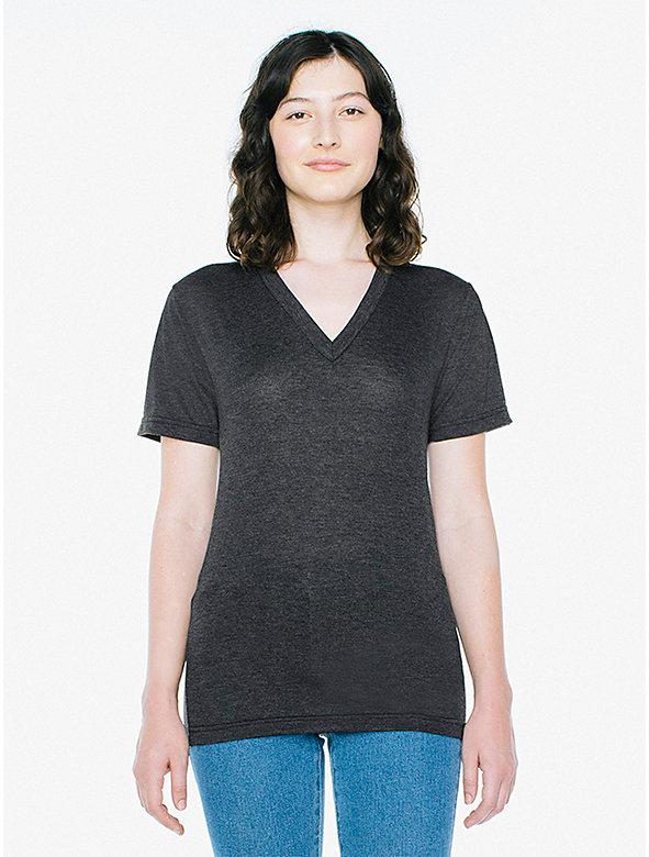 3caaf09a651d Unisex Tri-Blend V-Neck T-Shirt