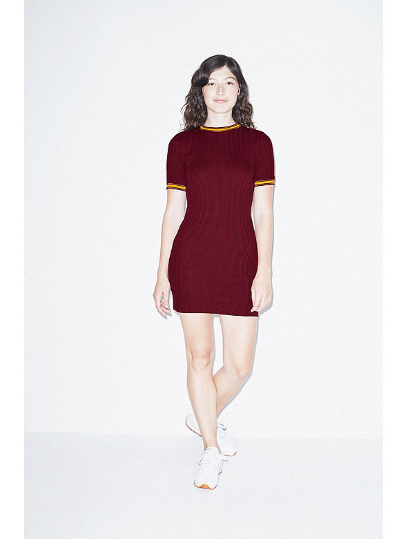 Thick Rib Rib Crewneck Dress
