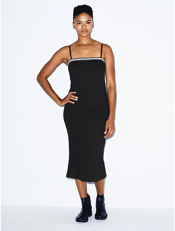 Thick Rib Midi Tube Dress