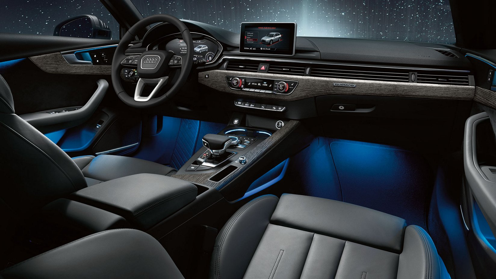 2018 Audi A8 Interior Night | Home Plan