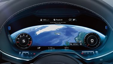 The Tt Coupe Features Standard Audi Virtual Pit A Fully Digital 12 3 Inch Instrument Display That Allows Driver To Customize Information Such
