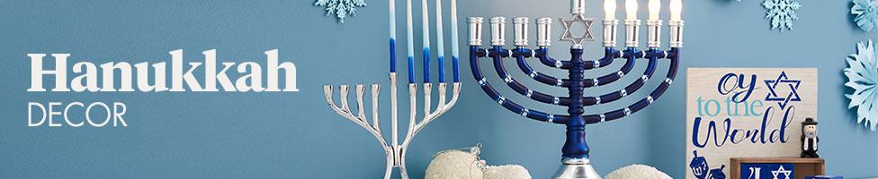 Hanukkah Decor - Hanukkah Decorations - Hanukkah Dreidel, Lights & Outdoor Decor