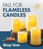 Shop Flameless Candles for Fall