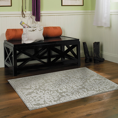 Image of accent rug with bench