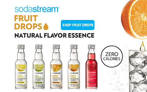 sodastream fruit drops - natural flavor essence with zero calories.