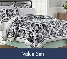 Shop for our comforter sets- Value Sets