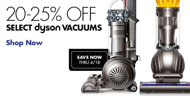 Shop 20% Off Select New Dyson Vacuums
