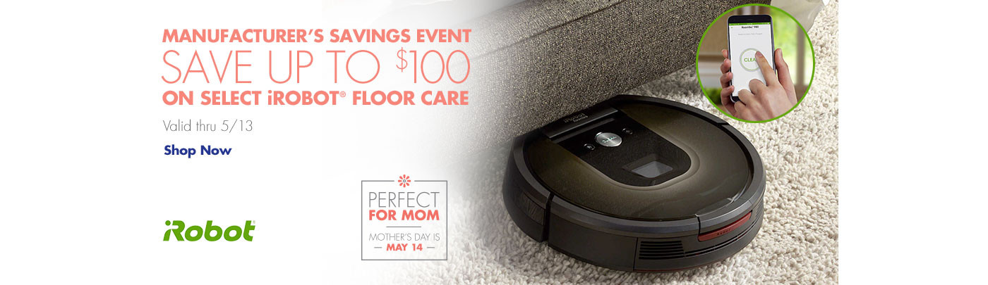 iRobot Manufacturer's Savings event