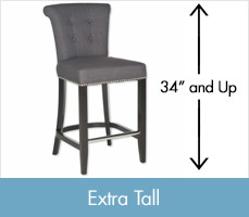 Shop Extra Tall Stools, 34 inches tall and up.