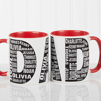Repeating Name for Him Coffee Mug