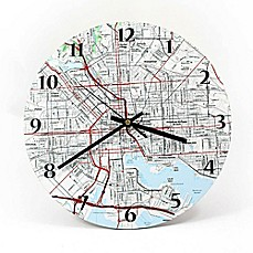 USGS Clock - 12inch - Personalized