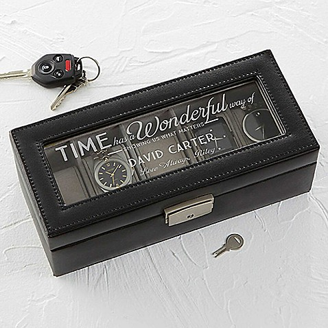 Timeless Message Leather 5-Slot Watch Box