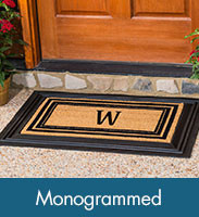 mat doormat front home gifts mats custom door monogram monogrammed rug family elegant pin personalized new flourish housewarming gift welcome