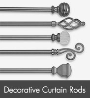 Decorative Window Curtain Rods, Curtain Rod Brackets & Finials - Bed ...
