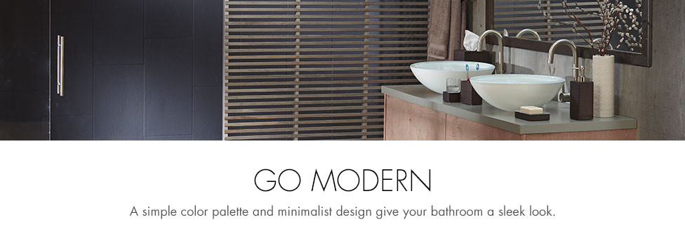 Go Modern - Contemporary Bathroom Banner