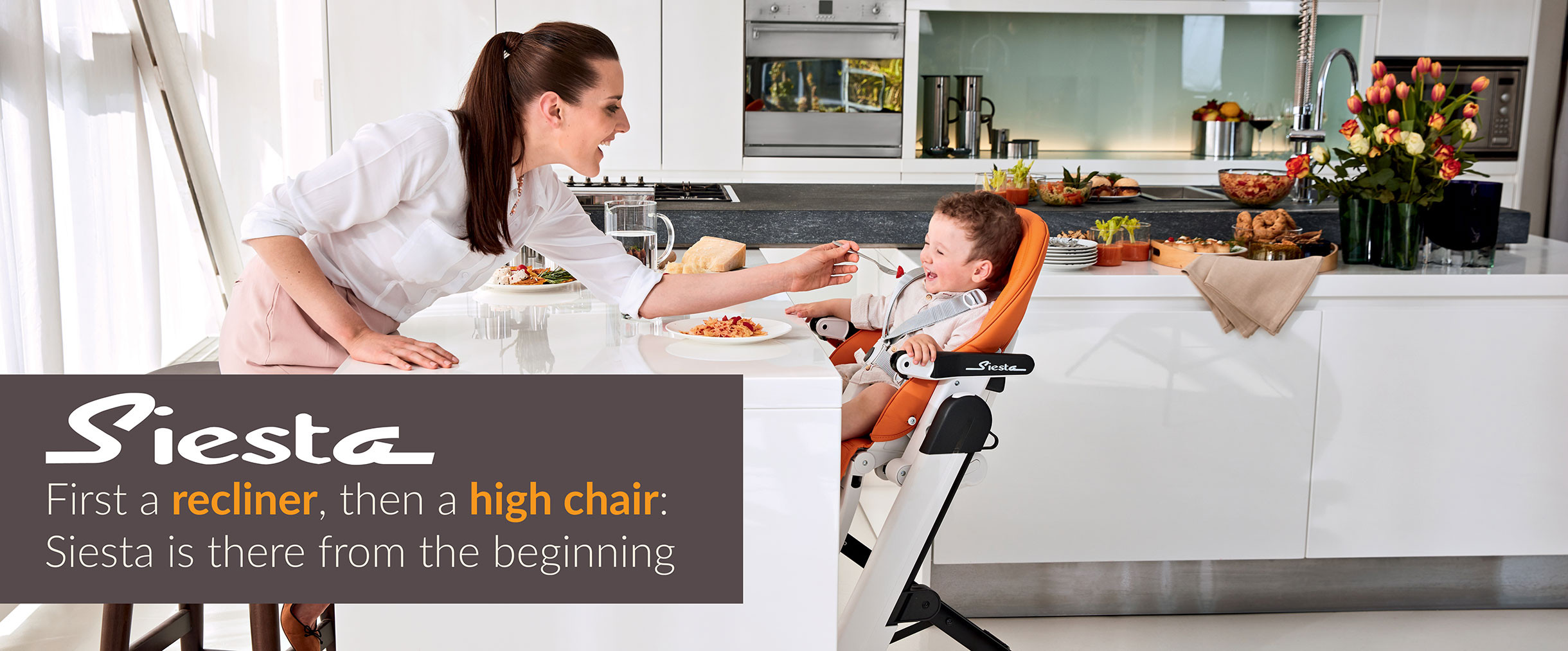 Peg Perego Siesta High Chair in Licorice BABY