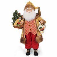 Lighted Tuscan Cuisine Santa Figurine