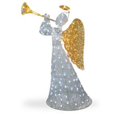 National Tree Company 60 Sisal Led Angel Decoration In White