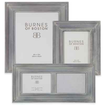 Burnes of Boston Wood Picture Frame in Grey