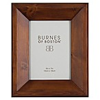 Burnes of Boston 5-Inch x 7-Inch Angled Wood Picture Frame in Walnut