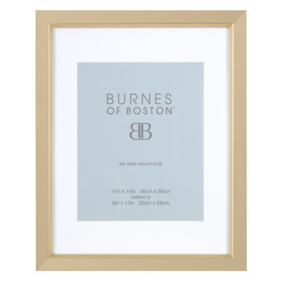 burnes of boston 8 inch x 10 inch matted basic picture frame in champagne