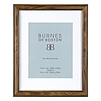 Burnes of Boston 8-Inch x 10-Inch Matted Basic Picture Frame in Walnut