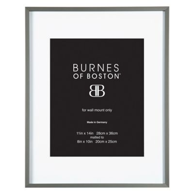 burnes of boston 8 inch x 10 inch metal matted picture frame in black